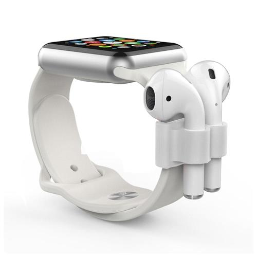 Holder AhaStyle PT47 Apple Airpods for Watch Straps White