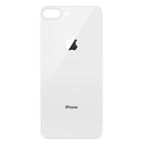 Glass for Battery Cover Apple iPhone 8 Plus Silver (OEM)
