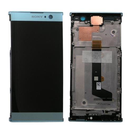 LCD with Touch Screen & Front Cover Sony Xperia XA2 Blue (Original)