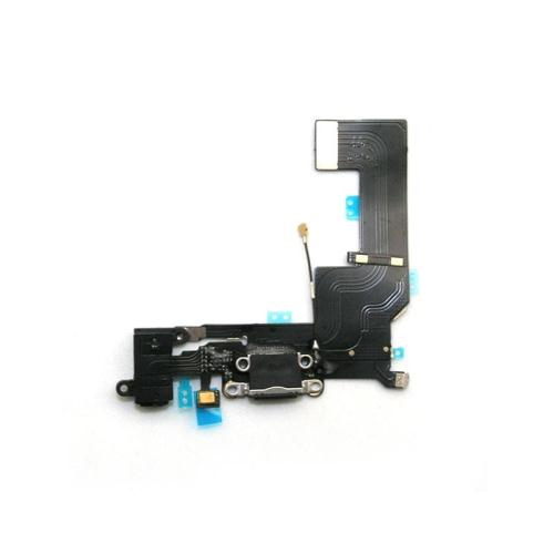 Flex Cable Apple iPhone SE with Plugin Connector, Hands Free Connector & Microphone Black (OEM)